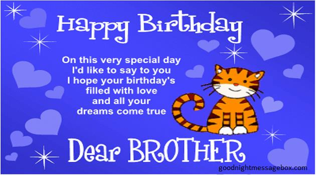 birthday poem for brother from sister in hindi ; bro