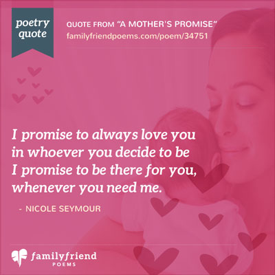 birthday poem for me ; a-mothers-promise