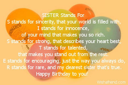 birthday poem for my big sister ; 1936-sister-birthday-poems