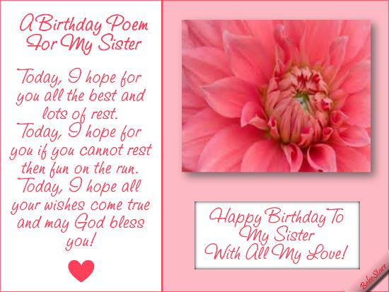 birthday poem for my big sister ; 74b4b719b967401894fef5bb2922d498