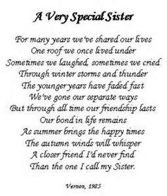 birthday poem for my big sister ; 83d484b7b053fcc0f4d40ffda4d52db2--love-my-sister-sister-sister