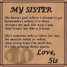 birthday poem for my big sister ; 8e818988e48f54ad1afbcbd52999609b--sister-sister-love-my-sister