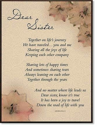 birthday poem for my big sister ; dc0e2b222bb8f98dcb1c3db2020e6a2b