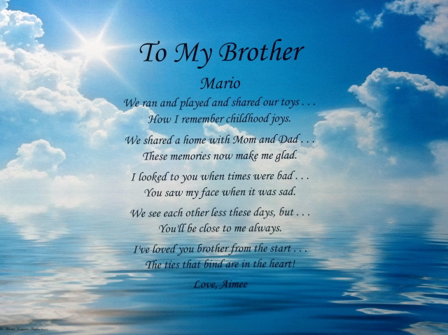 birthday poem for my brother ; 5d7ec97dc03306b964ab3d6d106eb412