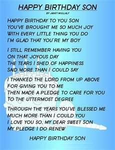 birthday poem for my son ; sonbdaypoem