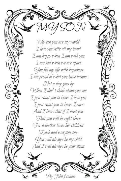 birthday poem for my son from mom ; 8dee7d904f161db5071b5a44ced8ec3e