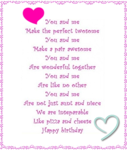 birthday poem for niece ; birthday-poems-husband-funny