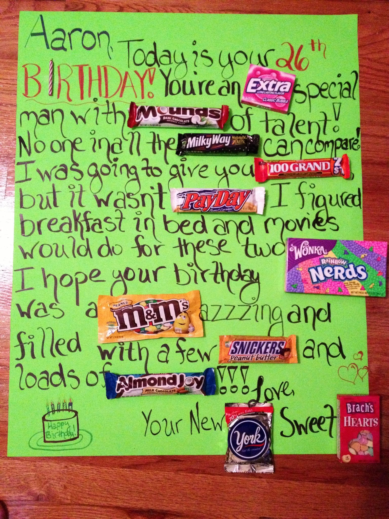 birthday poster with candy ; 386f0d77cb2ba93b44c82e386f343fff