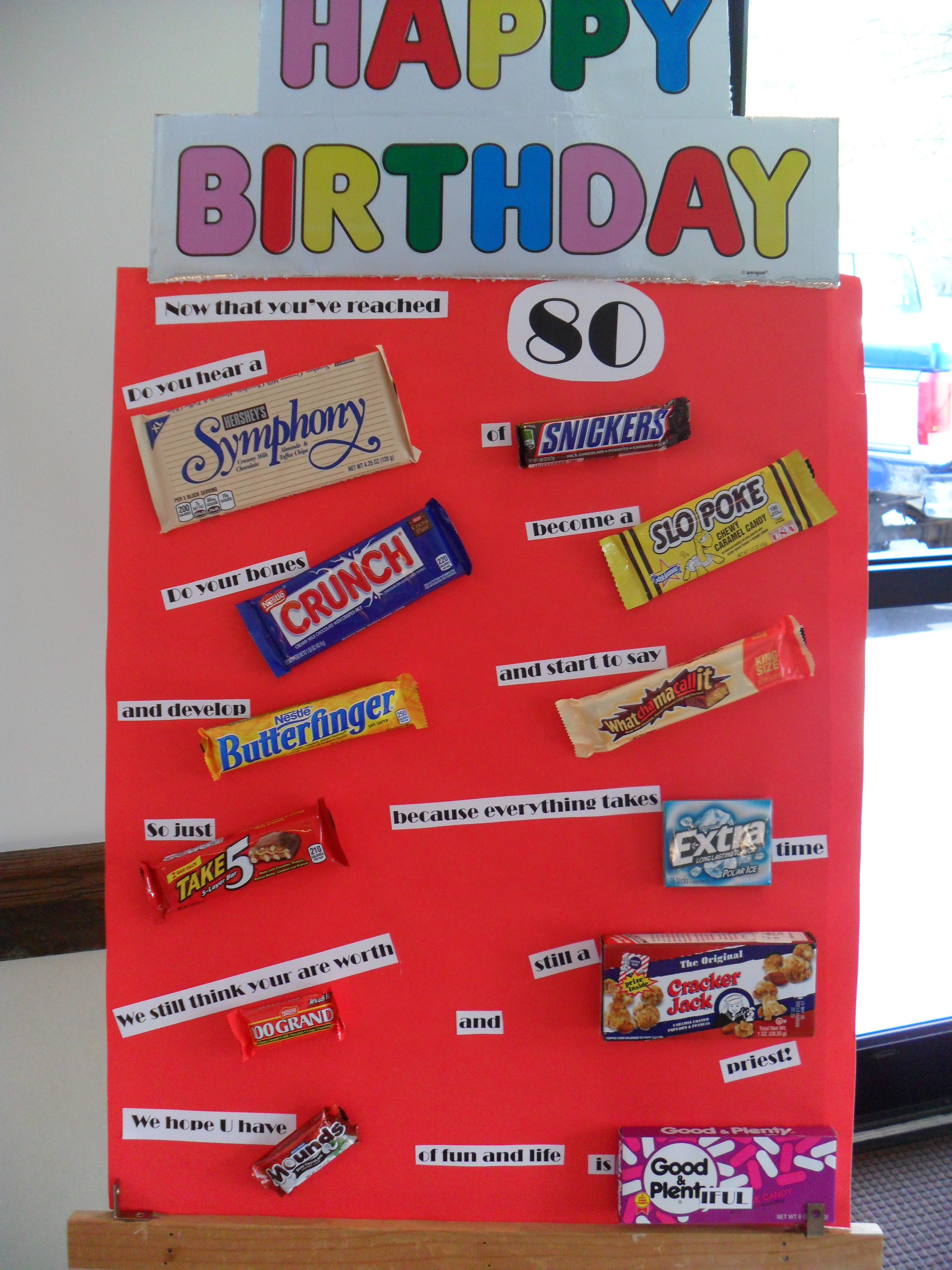 birthday poster with candy ; 8a7f0a850d442f0ad784271cc3d6f8a2