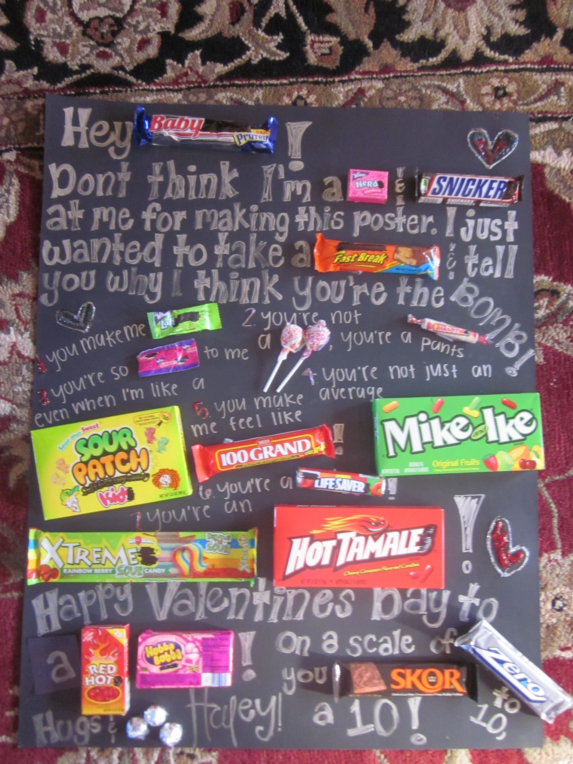 birthday poster with candy ; 8aaad73791f47ba4bfdcd27927f350c1