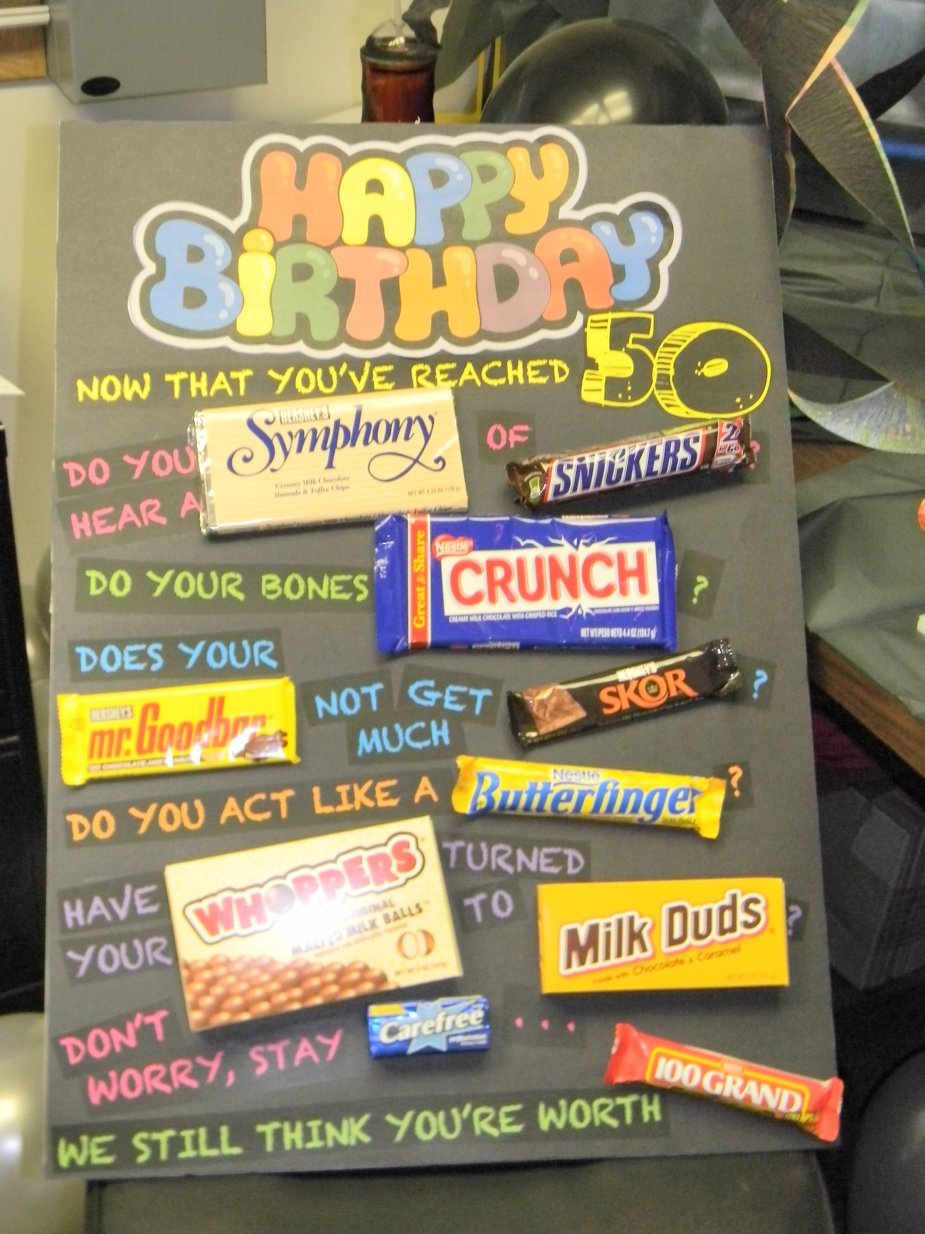 birthday poster with candy ; ecd65fb8a78476edc240684b14284dbc