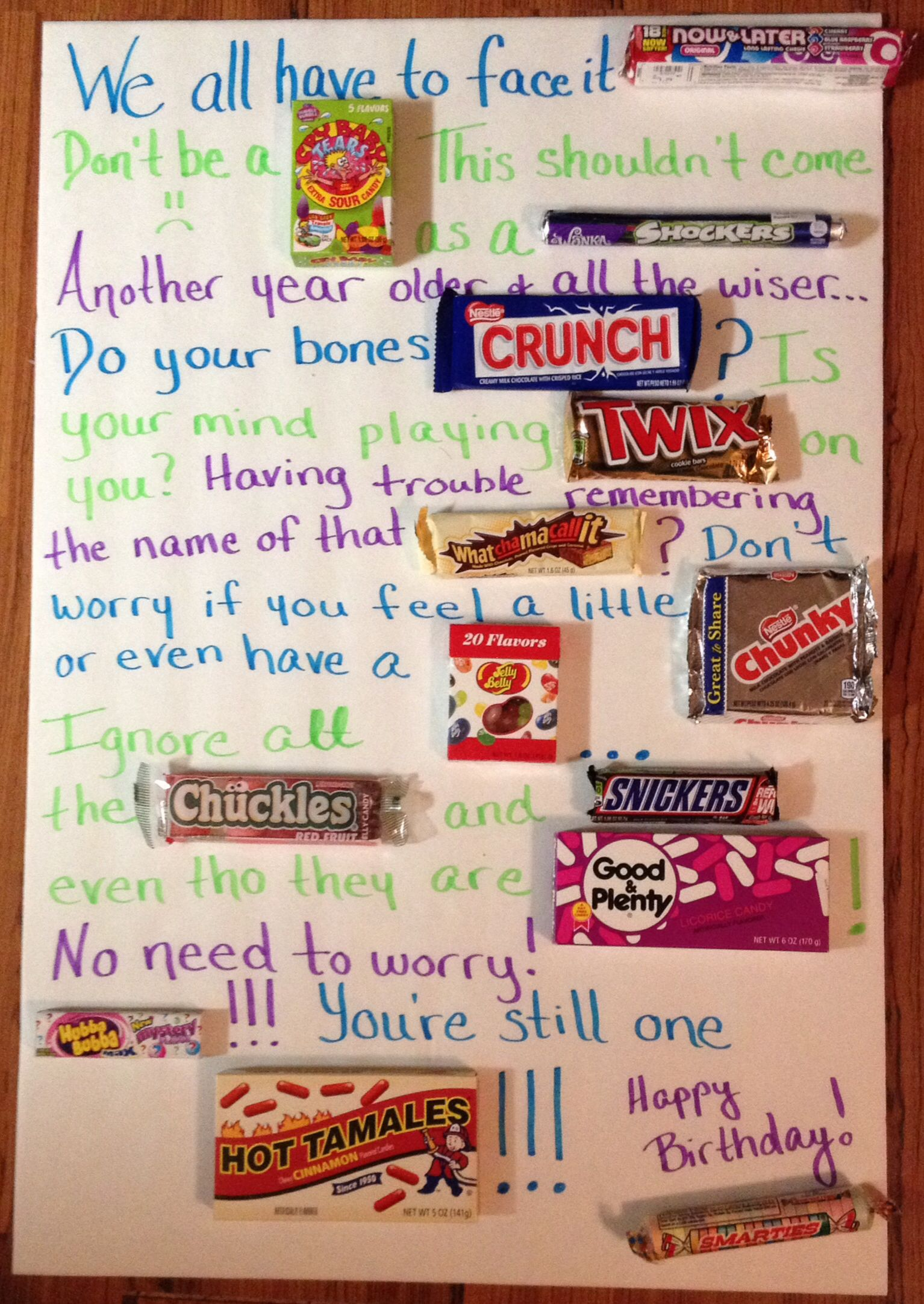 birthday poster with candy ; ffa150665906f9d733aea809bca3ea67