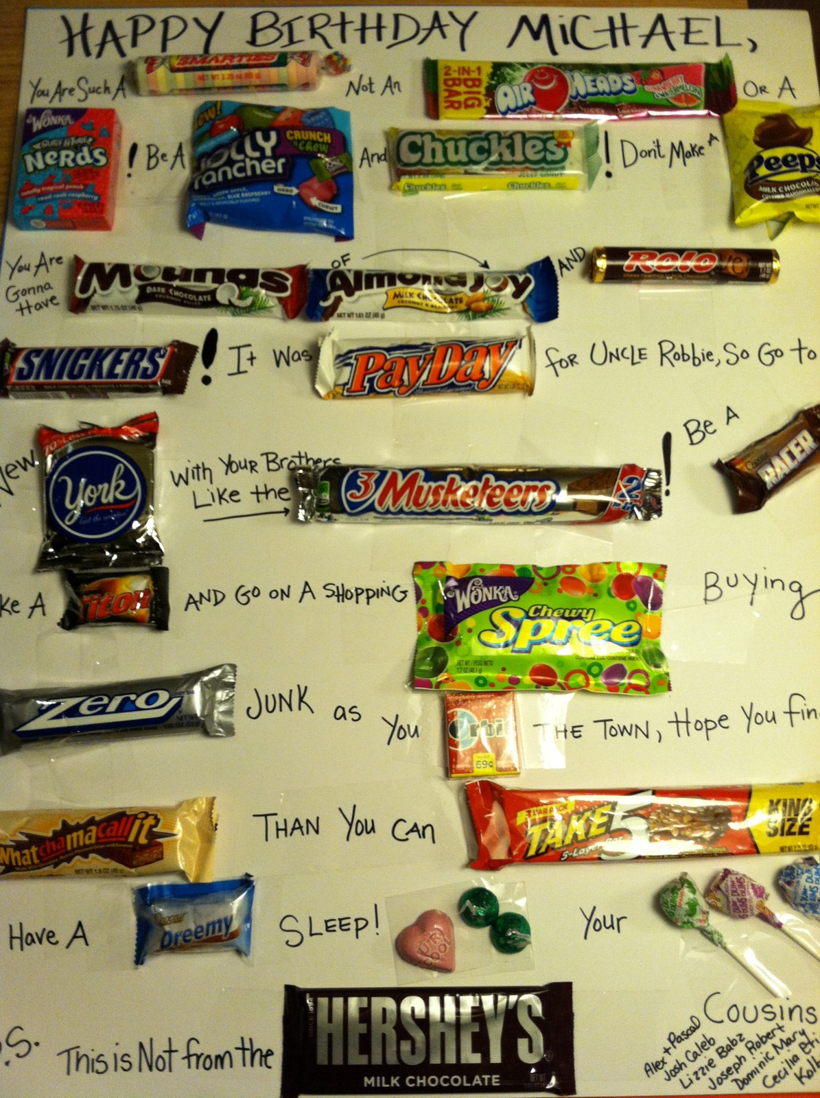birthday poster with candy ; ideas%2520for%2520a%2520birthday%2520poster%2520;%2520CANDY+POSTER