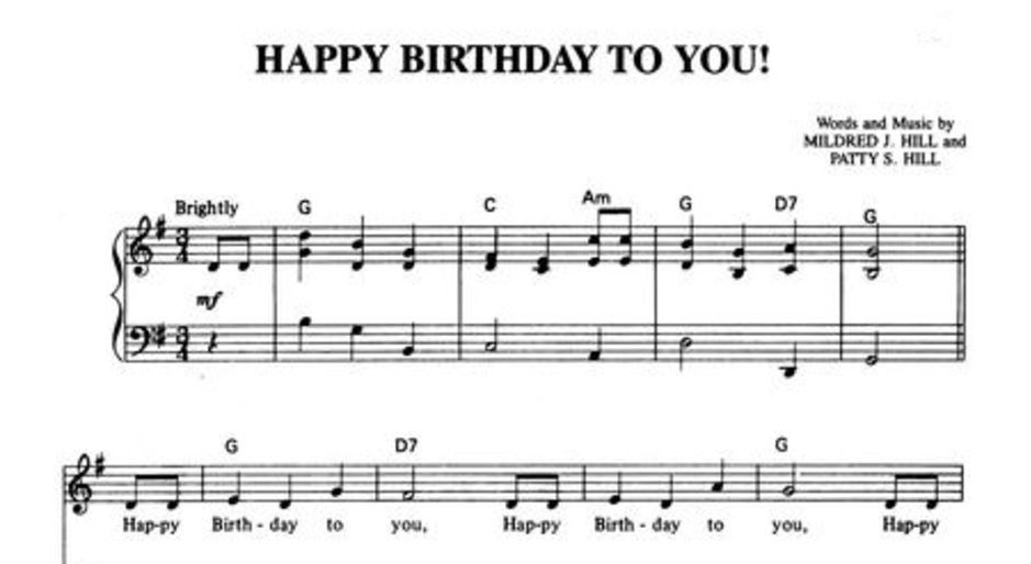 birthday tune piano ; Happy-Birthday-Song