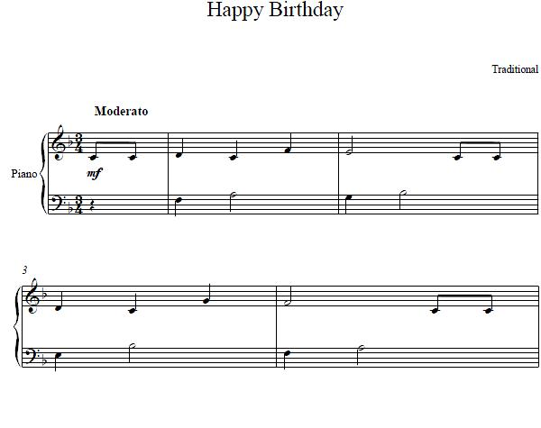 birthday tune piano ; happy-birthday-easy-piano