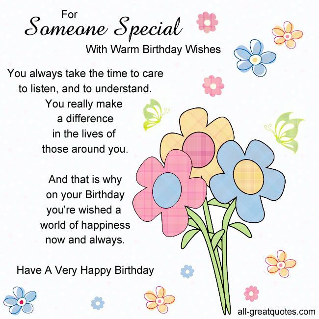 birthday verses for someone special ; 8fcc5809bdaee0c6cde4c30dfc10e01f