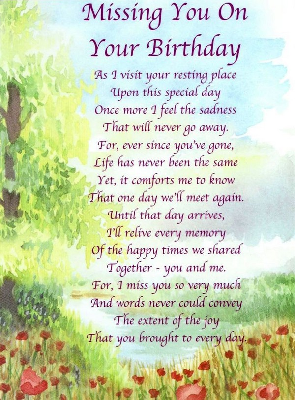 birthday verses for someone special ; birthday-wishes-in-heaven-for-mom