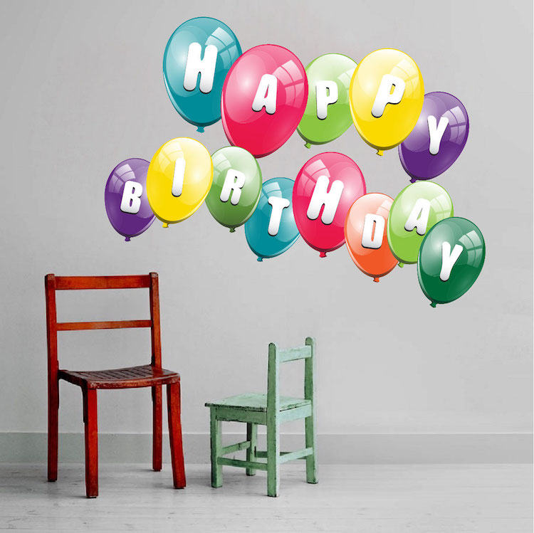 birthday wall design ; Kids_Birthday_Wall_Design_Decoration_Stickers_n83