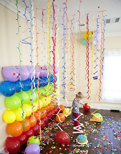 birthday wall design ; birthday-wall-decorations-10-decorating-with-balloons