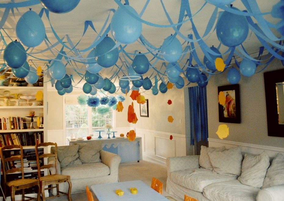 birthday wall design ; cool-birthday-decoration-home-interior-party-photos-design_155007