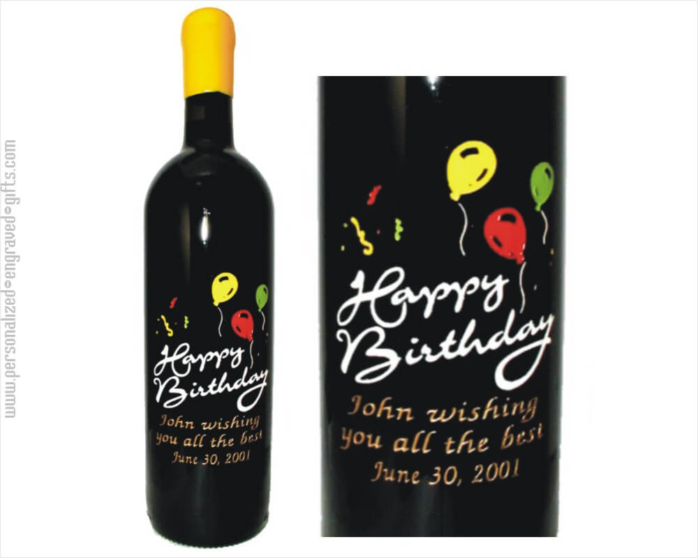 birthday wine bottle ; Happy%2520Birthday%2520Balloons