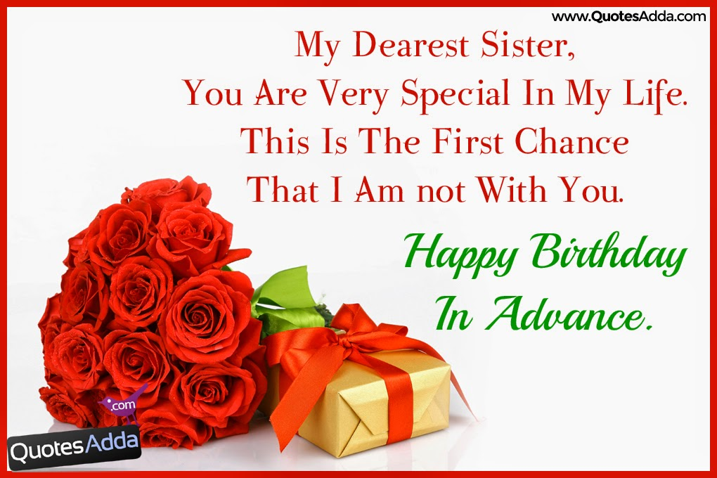 birthday wish to sister sms ; Sweet-Happy-Birthday-in-Advance-Wishes-Sister