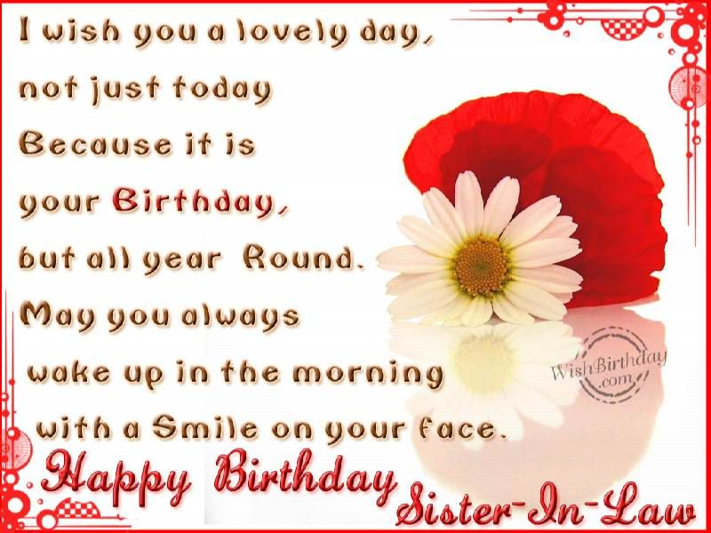 birthday wish to sister sms ; birthday-wishes-for-sister-in-law-sms-4