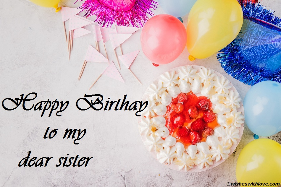 birthday wish to sister sms ; happy-birthday-sister-massages-wishes-SMS-and-images-for-younger-and-elder-11
