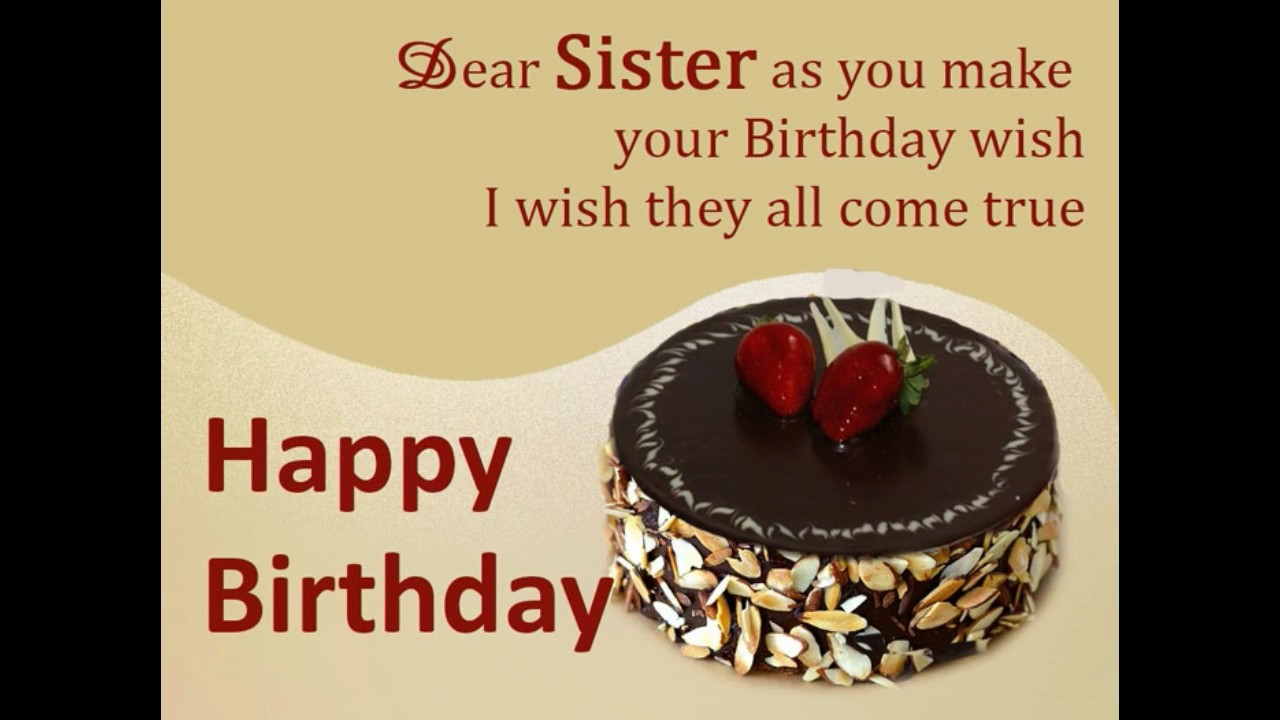 birthday wish to sister sms ; maxresdefault