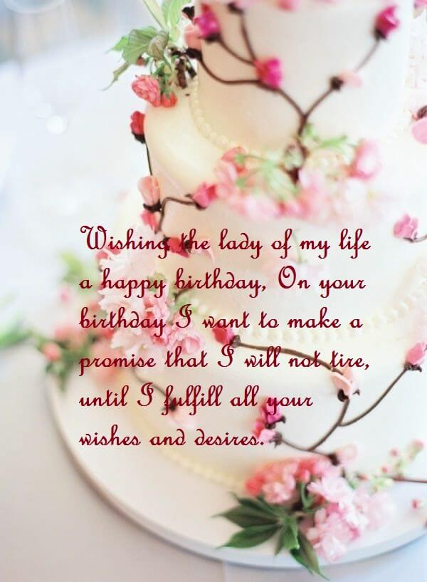 birthday wishes and sayings ; Happy-Birthday-Wishes-For-Wife-With-Cake