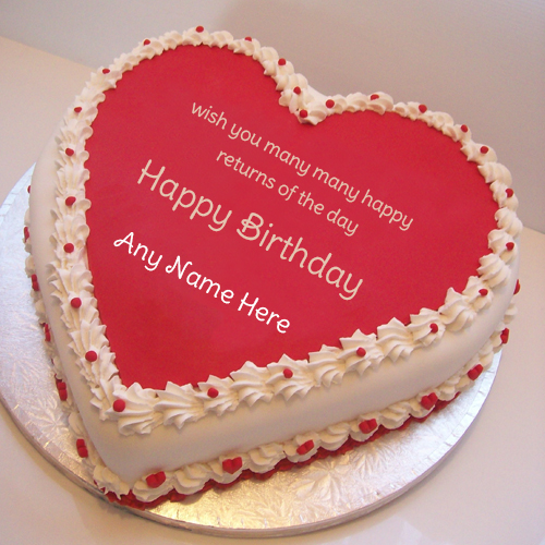 birthday wishes on cake with name and photo ; Heart-Design-birthday-cake-name-wishes