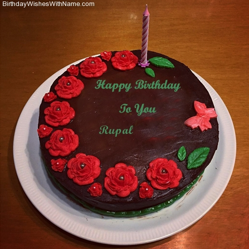 birthday wishes on cake with name and photo ; happy-birthday-cake-with-name-writing-rupal