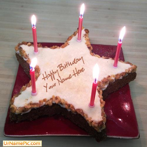 birthday wishes on cake with name and photo ; star-birthday-cake_name_pictures_31eac0f2