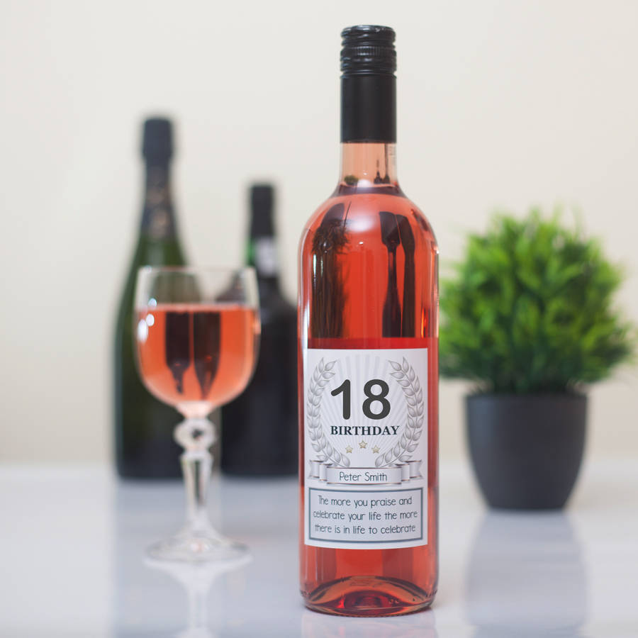bottle of wine for birthday ; original_18th-birthday-personalised-wine