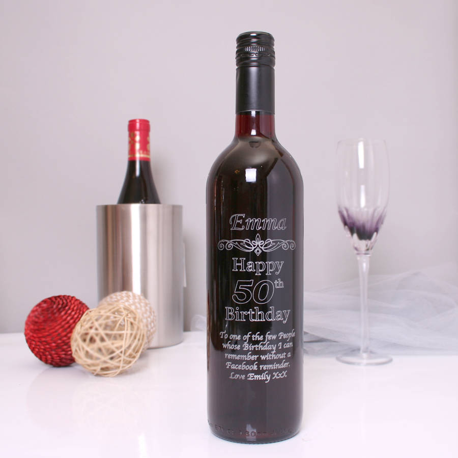 bottle of wine for birthday ; original_50th-birthday-personalised-red-wine