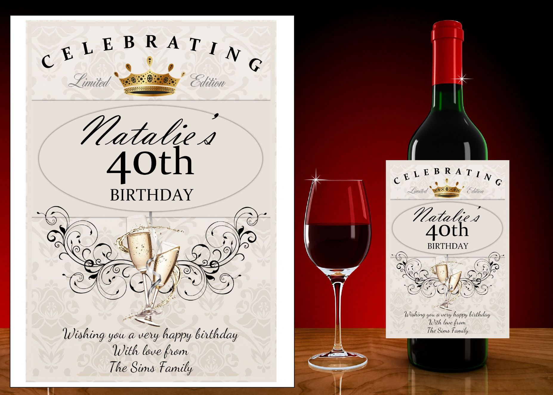 bottle of wine for birthday ; personalised-happy-birthday-wine-champagne-bottle-label-gift-idea-n64-bottle-label-size-champagne-bottle-9cm-h-x-13cm-w-14026-p