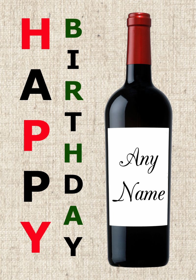 bottle of wine for birthday ; red-wine-bottle-birthday-card-925-p