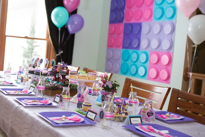 boy and girl birthday party ideas ; Girl-Themed-Lego-Party-via-Karas-Party-Ideas-KarasPartyIdeas