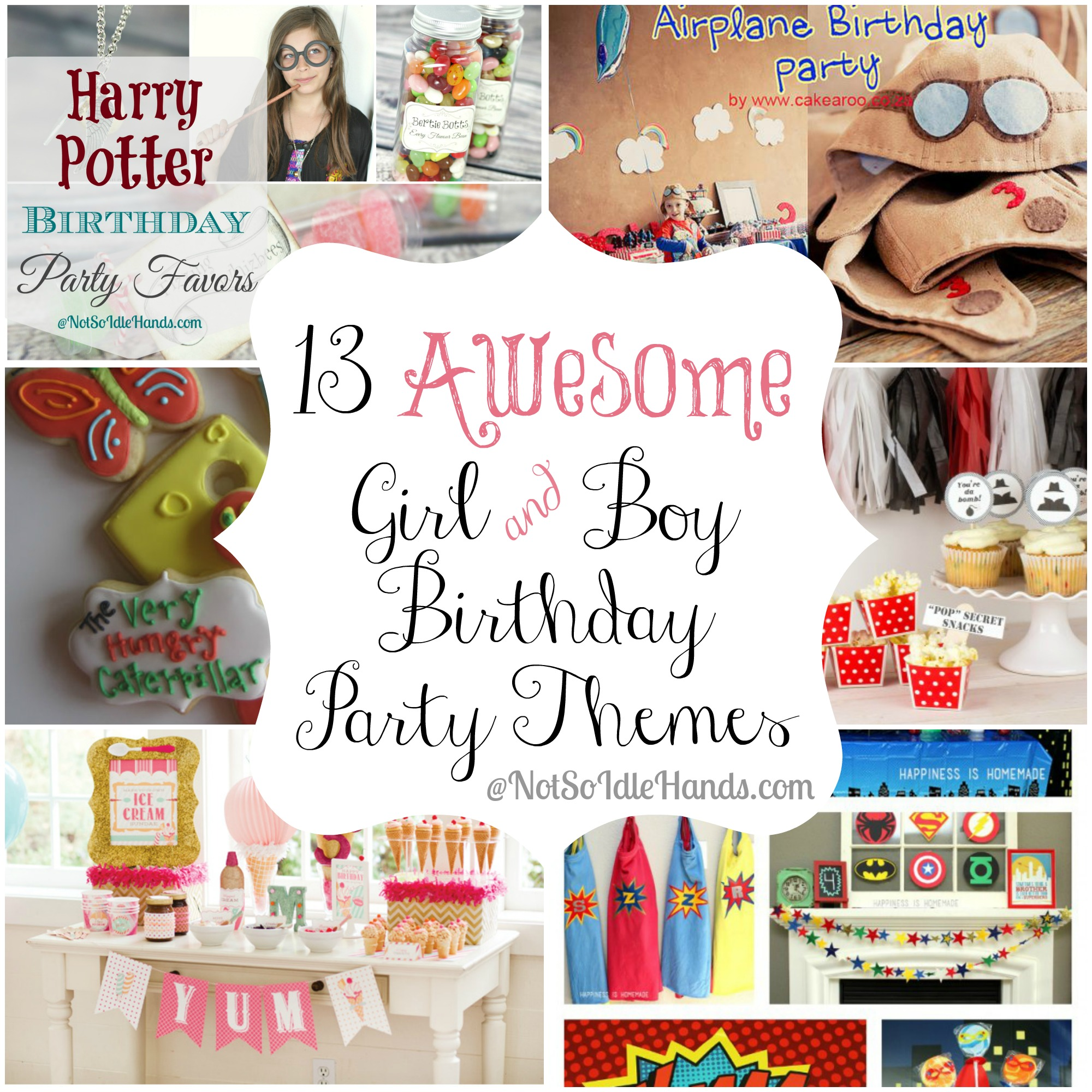 boy and girl birthday party ideas ; Kids-Party-Ideas