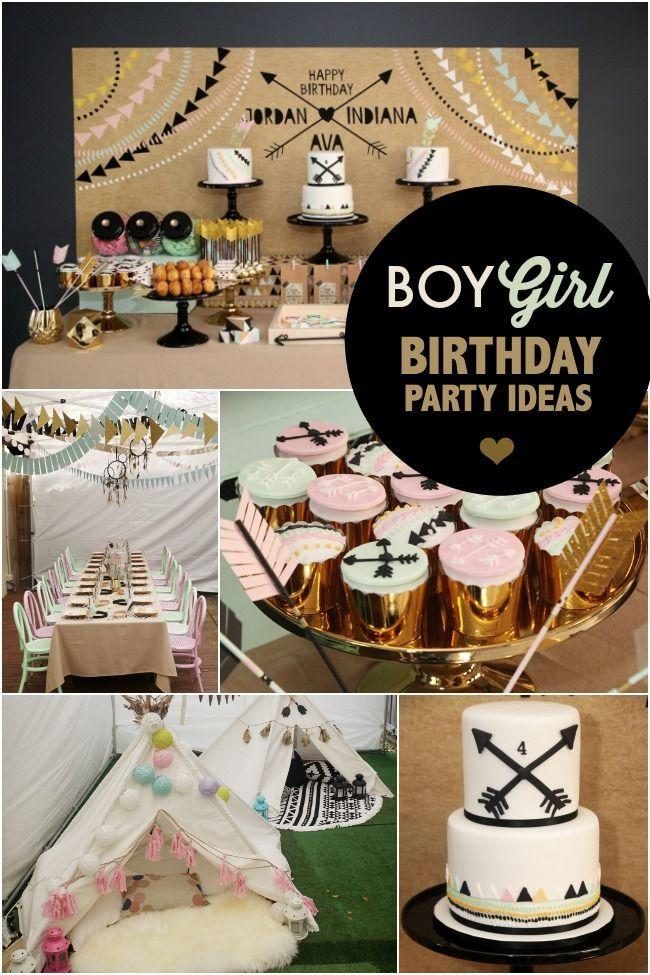 boy and girl birthday party ideas ; boy-and-girl-aztec-birthday-party-ideas