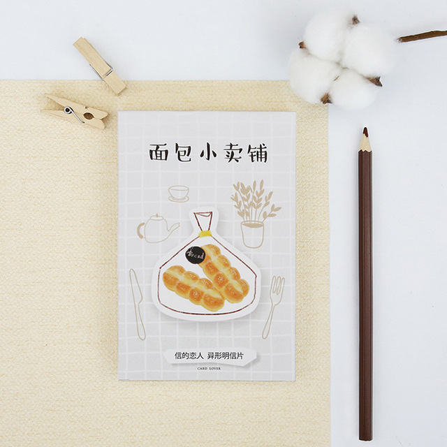 bread birthday card ; 30-pcs-lot-Heteromorphism-cute-bread-postcard-greeting-card-christmas-card-birthday-card-paper-bookmark-stationery