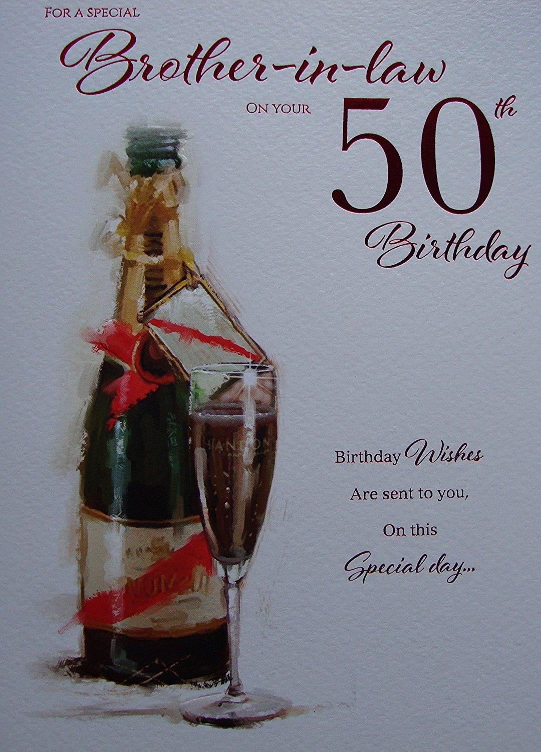 brother in law 50th birthday card ; 55228559