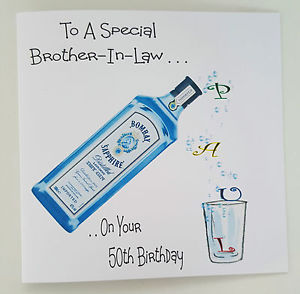 brother in law 50th birthday card ; s-l300