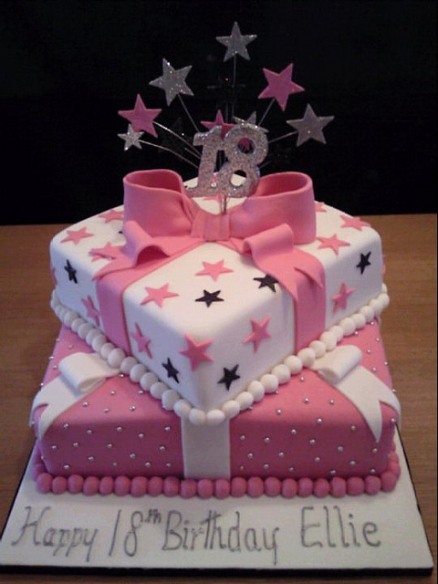 cake design 18th birthday girl ; girls-18th-birthday-cake-ideas-pink-and-white-18th-birthday-cake-flickr-photo-sharing-baked-in-ideas