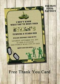 camo birthday card template ; a377b2b7555cb2422e77be8092031422--camo-birthday-army-party