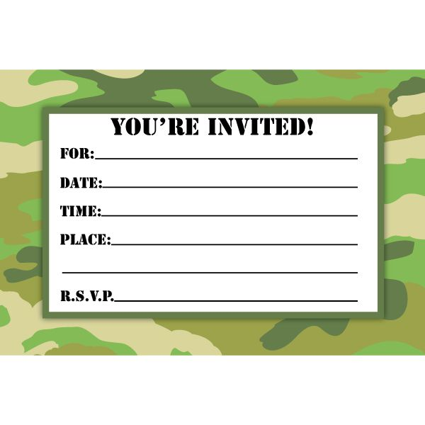 camo birthday card template ; camouflage-birthday-invitations-for-your-extraordinary-Birthday-Invitation-Templates-associated-with-beautiful-sight-using-a-winsome-design-3