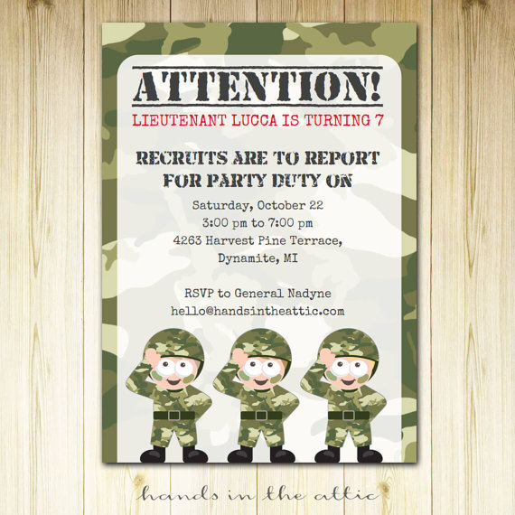 camo birthday card template ; il_570xN
