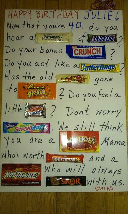 candy buffet poem for birthday ; 468e6a24998441a458eb5a3889c8fd5b--birthday-candy-bar-th-birthday-gifts