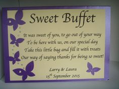 candy buffet poem for birthday ; 90a863a0908d4cdc9bc3498c8f8691b0--personalised-sweets-wedding-shop
