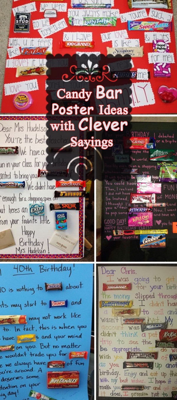 candy buffet poem for birthday ; candy-bar-saying-ideas
